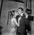 """""""Génousic"""" de René de Obaldia. Maria Mauban et Jean Rochefort. Paris, théâtre Récamier, septembre 1960. © Studio Lipnitzki/Roger-Viollet"""