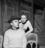 """""""Jacques ou la soumission"""", pièce d'Eugène Ionesco. Jean Louis Trintignant et Reine Courtois. Paris, Studio des Champs-Elysées, février 1961. © Bernard Lipnitzki / Roger-Viollet"""