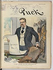 """Theodore Roosevelt (1858-1919), homme d'Etat américain, reprenant les mesures de William McKinley (1843-1901), homme d'Etat américain, après son assassinat. Caricature extraite de """"Puck"""", 2 octobre 1901. © The Image Works / Roger-Viollet"""