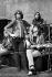 """Mick Taylor, Mick Jagger, Keith Richards et Charlie Watts, membres du groupe de rock anglais """"The Rolling Stones"""", répétant au Saville Theatre. Londres (Angleterre), 14 décembre 1969. © PA Archive / Roger-Viollet"""
