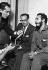 Osvaldo Dorticos Torrado (1919-1983), président de la République de Cuba, et Fidel Castro (1926-2016), homme d'Etat et révolutionnaire cubain, sur le parvis du palais présidentiel. La Havane (Cuba), 1959. © Gilberto Ante / BFC / Gilberto Ante / Roger-Viollet