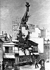 """Frédéric Auguste Bartholdi (1834-1904). """"La statue de la Liberté, en construction à Paris"""". © Albert Harlingue/Roger-Viollet"""