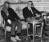 Gamal Abdel Nasser (1918-1970), président de l'Egypte et Yasser Arafat (1929-2004), président de l'Organisation de libération de la Palestine. Le Caire (Egypte), 1969.  © TopFoto / Roger-Viollet