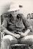 """Romy Schneider (1938-1982), actrice autrichienne, prenant une pause sur le tournage de """"La Califfa"""", film d'Alberto Bevilacqua. France-Italie, 1970. © Alinari / Roger-Viollet"""