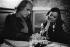Léo Ferré (1916-1993) et Lucienne Boyer (1903-1983), chanteurs français. © Geneviève Van Haecke / Roger-Viollet