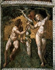 """Raphaël (1483-1520)."""" Adam et Ève"""". Détail de la fresque. Chambre de la Signature, Palais du Vatican, Rome (Italie). © Alinari/Roger-Viollet"""