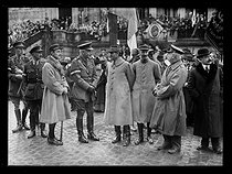 World War One. The Armistice Commission in Spa (Belgium), late November - early December 1918. Allied and enemy delegates meeting at the former general headquarters of the German army. The Generals Nudant and Haking. © Excelsior – L'Equipe/Roger-Viollet