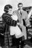 La princesse Sophie de Grèce (née en 1938) avec son époux le prince Juan Carlos (né en 1938), héritier du trône d'Espagne, et leur fille la princesse Elena (née en 1963). Madrid (Espagne), 13 février 1964. © TopFoto/Roger-Viollet