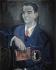 """José Caballero y Muñoz, (1916-1991). """"Federico García Lorca"""". Huile sur toile, moitié du XXème siècle. Madrid (Espagne), musée municipal.  © Iberfoto / Roger-Viollet"""