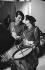 Mireille Mathieu et Henri Salvador.  Emission de télévision. Paris, 10 octobre 1968.  © Roger-Viollet