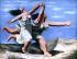 """Pablo Picasso (1881-1973). """"Deux femmes courant sur la plage"""" ou """"La Course"""". Huile sur toile, 1922. Paris, musée Picasso. © TopFoto / Roger-Viollet"""