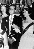 Le prince Juan Carlos (né en 1938), héritier du trône d'Espagne, et sa fiancée la princesse Sophie de Grèce (née en 1938), lors d'un bal. Athènes (Grèce), 14 septembre 1961. © TopFoto/Roger-Viollet