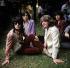 Les Rolling Stones : Mick Taylor, Keith Richards, Mick Jagger et Bill Wyman. Londres (Angleterre), Hyde Park., 13 juin 1969. © PA Archive / Roger-Viollet