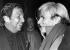 Robert Rauschenberg (1925-2008) et Andy Warhol  (1929-1987), artistes américains. 1982. © Harry Croner / Ullstein Bild / Roger-Viollet