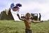 Participant au festival de Woodstock (New York), 1969.  © Tom Miner/The Image Works/Roger-Viollet