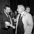 Jacques Prévert et Jacques Fabbri. Paris, théâtre de la Renaissance, février 1961. © Studio Lipnitzki/Roger-Viollet