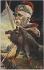 """Sirat. Affaire Dreyfus. """"Caricature. Georges Clemenceau"""". Impression photomécanique en couleurs. 1894-1906. Bibliothèque historique de la Ville de Paris. © BHVP / Roger-Viollet"""