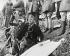 Guerre d'Espagne (1936-1939). Francisco Franco (1892-1975), général et homme d'Etat espagnol, menant des opérations aux côtés de Fidel Dávila Arrondo (1878-1962), général espagnol. Catalogne (Espagne), 1938. © Iberfoto / Roger-Viollet