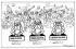 """Caricature de George Strube sur Gandhi (1869-1948), homme politique et philosophe indien. Extraite du """"Daily Express"""", quotidien londonien, 30 avril 1930. © TopFoto/Roger-Viollet"""
