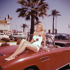 Automobile Ford Thunderbird. Années 1960. © Roger-Viollet