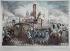 """Anonyme. """"Exécution de Louis Capet  XVIème du nom, le 21 janvier 1793"""". Estampe. Paris, musée Carnavalet.  © Philippe Ladet/Musée Carnavalet/Roger-Viollet"""