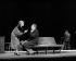 """""""Siegfried"""" de Jean Giraudoux. Mise en scène de Georges Wilson. Simone Valère et Jean Desailly. Paris, théâtre de la Madeleine, novembre 1980. © Jean-François Cheval / Roger-Viollet"""