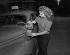 Femme chauffeur de taxi. Paris, 1955. © Roger-Viollet