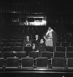 """Jean Giraudoux assistant à une répétition de sa pièce """"Judith"""", avec à ses côtés Louis Jouvet. Paris, théâtre Pigalle, 1931. © Boris Lipnitzki / Roger-Viollet"""