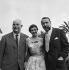 Georges Simenon (1903-1989), écrivain belge. Françoise Arnoul et Jean Renoir. © Studio Lipnitzki / Roger-Viollet