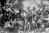 """Jacob Jordaens (1593-1678). """"Diogène, sa lanterne à la main, cherche des hommes en plein marché"""". Huile sur toile, vers 1642. Musée de Dresde (Allemagne). © Neurdein / Roger-Viollet"""