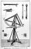 """Astronomie : quart de cercle mobile. Gravure de Bénard pour l'""""Encyclopédie"""" de Diderot (XVIIIème siècle). © Roger-Viollet"""