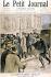 """Henri Meyer (1844-1899). """"Affaire Dreyfus-Zola"""". Entrée d'Emile Zola (1840-1902), écrivain français, au Palais de Justice. Gravure extraite du """"Petit Journal"""", 20 février 1898. © Roger-Viollet"""