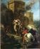 """Eugène Delacroix (1798-1863). """"L'Enlèvement de Rébecca"""". Huile sur toile, 1858. Paris, musée du Louvre. © Roger-Viollet"""