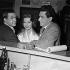 """""""En effeuillant la marguerite"""", film de Marc Allégret. Robert Hirsch, Nadine Tallier (de Rothschild) et Jacques Jouanneau. France, 24 février 1956.  © Alain Adler/Roger-Viollet"""