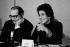 Françoise Giroud (1916-2003) et François Mitterrand (1916-1996), lors d'une réunion socialiste sur La Libération de la Femme. 1972. Photographie de Janine Niepce (1921-2007). © Janine Niepce/Roger-Viollet