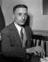 """Julien Gracq (1910-2007), écrivain français, en 1951, lorsque lui fut décerné le prix Goncourt (pour """"Le Rivage des Syrtes""""), qu'il refusa. © LAPI/Roger-Viollet"""
