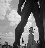 Le pavillon de l'U.R.S.S. vu du pavillon de l'Allemagne. Exposition internationale de 1937, Paris. © Gaston Paris / Roger-Viollet