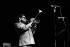 Dizzy Gillespie (1917-1993), trompettiste américain. Villeurbanne (Rhône), 1970. © Gérard Amsellem/Roger-Viollet
