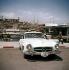 Automobile Mercedes 190 coupé. Cannes (Alpes-Maritimes), années 1960.  © Ray Halin/Roger-Viollet