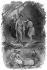 """Illustration pour """"Les Natchez"""" de François-René de Chateaubriand. Coutumes indiennes. © Roger-Viollet"""