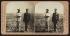 Theodore Roosevelt (1858-1919), homme d'Etat américain, et le Dr Cross en uniforme militaire. Montauk Point  (Long Island, Etat de New York, Etats-Unis), 1903. Vue stéréoscopique. © The Image Works / Roger-Viollet