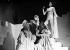"""""""Sodome et Gomorrhe"""" de Jean Giraudoux. Gérard Philipe, Edwige Feuillère et Lise Delamare. Paris, théâtre Hébertot. 1943.     © Albert Harlingue / Roger-Viollet"""