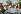 Marche contre la peur organisée par James Meredith (né en 1933), premier étudiant noir-américain de l''université du Mississippi. Dick Gregory, Martin Luther King et James Meredith. Mississippi (Etats-Unis), 1er juin 1966. © 1976 Matt Herron / Take Stock