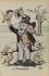 Visite de S. M. Alphonse XIII à Paris. Le charmeur. Emile Loubet, homme état français. Caricature de EG. Paris, bibliothèque de l'Hôtel de Ville. © EG. / BHdV / Roger-Viollet
