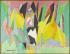 """Jacques Villon (Duchamp Gaston, dit - 1875-1963). """"Le long du bois"""". Huile sur toile. 1958. Paris, musée d'Art moderne. © Julien Vidal / Musée d'Art Moderne / Roger-Viollet"""