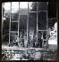 Zadkine vu derrière la verrière de son atelier