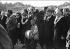 Marches de Selma à Montgomery pour les droits civiques. Martin Luther King, Ralph Abernathy, Charles Evers, Ralph Bunche, le rabbin Abraham Joshua Heschel et Harry Belafonte. Environs de Selma (Alabama, Etats-Unis), 21 mars 1965. © 1976 Matt Herron / Take Stock