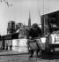 Secondhand bookseller, quai de la Tournelle. Paris, circa 1950. © Oswald Perrelle / Roger-Viollet