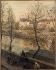 Jean-Baptiste Jules Trayer (1824-1908). The river Seine at the quai Bourbon in Paris. Oil on wood, 1887. Paris, musée Carnavalet. © Musée Carnavalet / Roger-Viollet