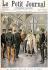 """Fortuné-Louis Méaulle (1844-1901) d'après Oswaldo Tofani (1849-1915). Paul Doumer, Gouverneur général de l'Indochine, reçu par le roi du Siam à Bangkok. Gravure parue dans """"Le Petit Journal"""", 7 mai 1899. © Roger-Viollet"""